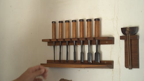 Picking A Chisel From The Rack