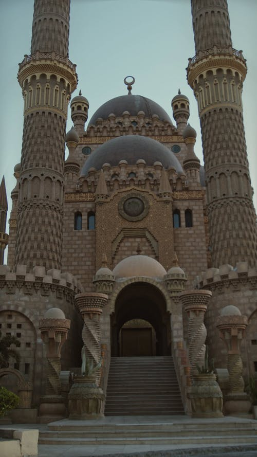 The Intricate Design Of A Grand Mosque