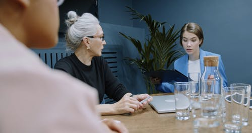 A Lady Boss Holding A Business Meeting With Her Staff