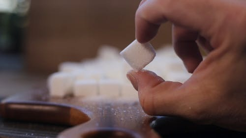 A Person Holding a Sugar Cube