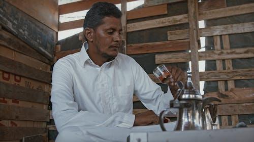 Man Drinking His Tea