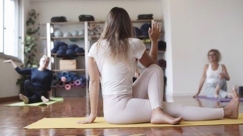 A Yoga Instructor Demonstrating a Yoga Pose