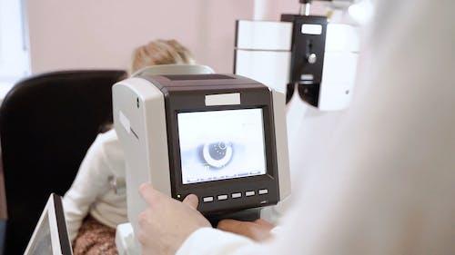 Girl Having an Eye Examination