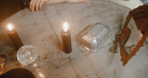 Tarot Cards Inside A Metallic Case