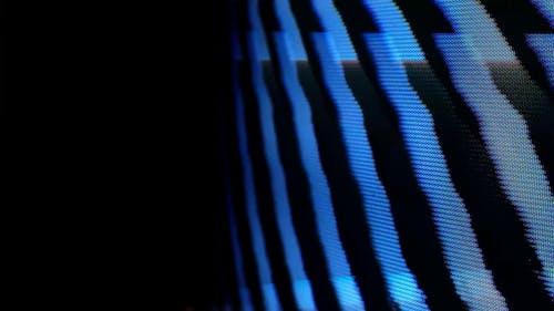 Closeup of Analogue TV