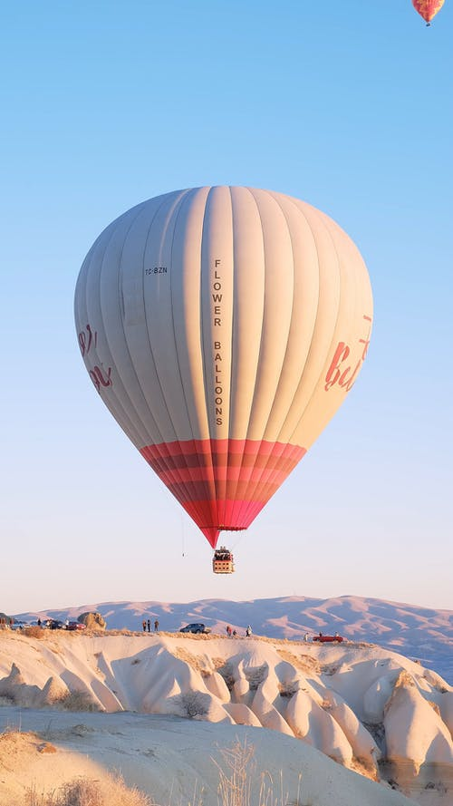 Video of a Floating Hot Air Balloon