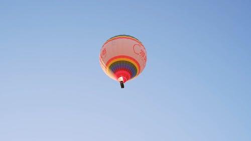 A Flying Hot Air Balloon