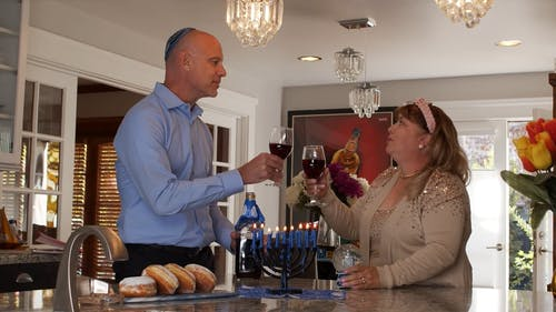 Man And Woman Drinking Red Wine