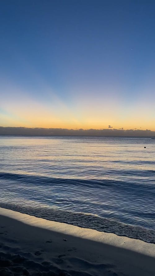 Sunset on Peaceful Beach
