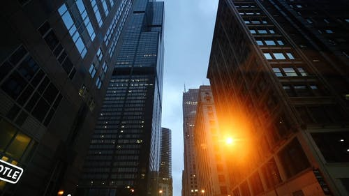 Skyscrapers Seen From Street Level
