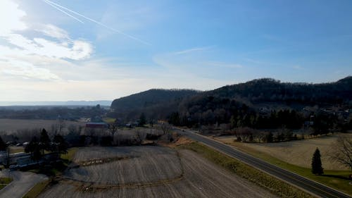 A Drone Footage of Countryside