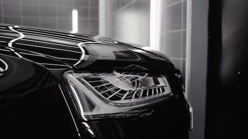 Shining Black Car