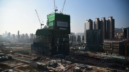 Time Lapse of Building Under Construction