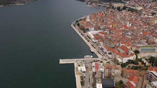 Aerial Shot of Sibenik Croatia
