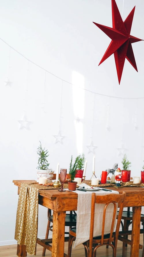 Dining Table in Christmas Time