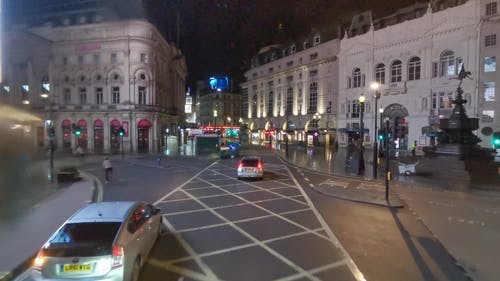 City Traffic During a Christmas Night in London