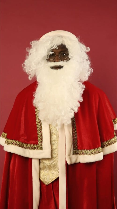 Santa Clause Is Blowing A Kiss