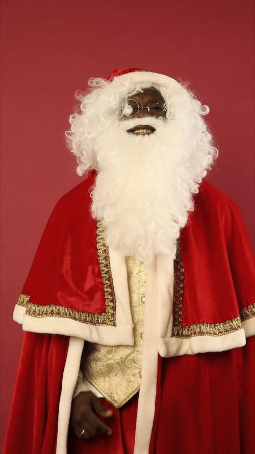 Santa Claus Is Laughing Hard
