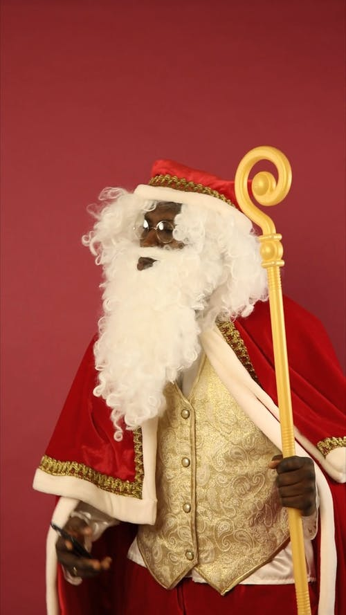 Santa Claus Is Taking A Selfie