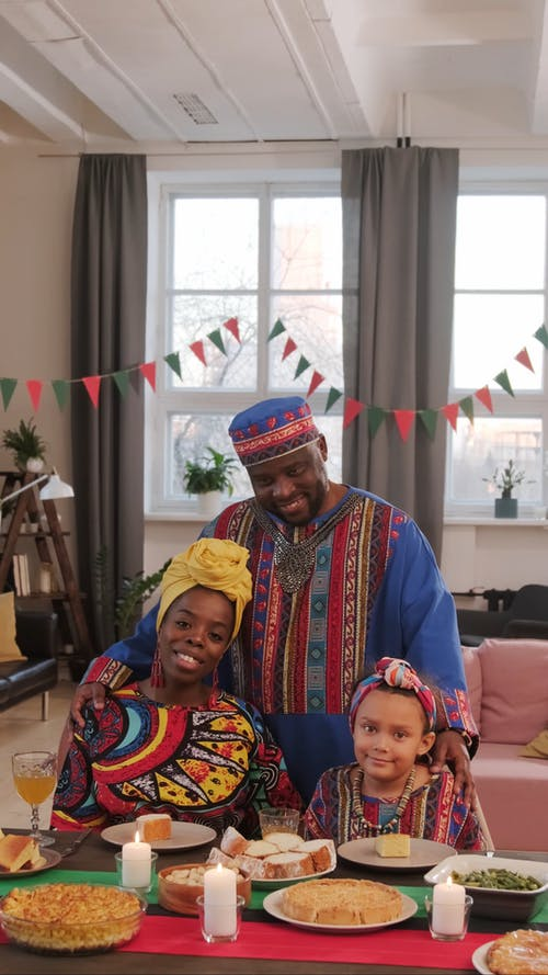 Video Of Family Wearing Traditional Clothes