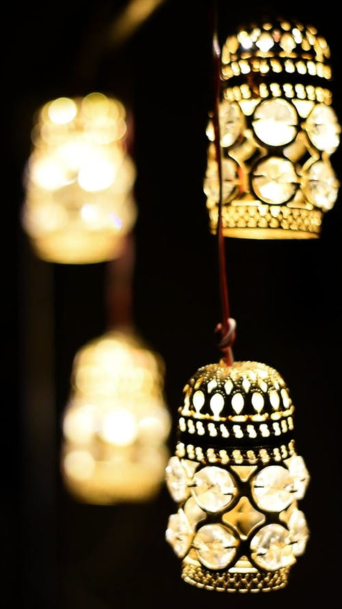 Close-up Video of Light Bulbs