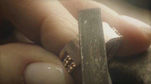 Jeweler Wroking on a Ring