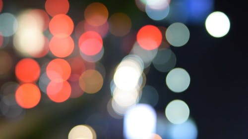 Colorful Lights in Blur