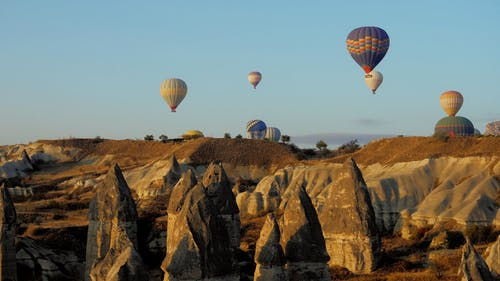 Video of a Flying Hot Air Balloons