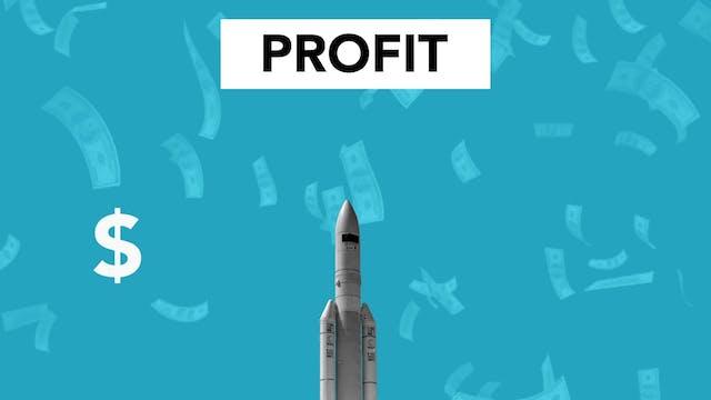 Digital Art Showing Profit Maximization