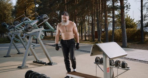 A Man Working Out