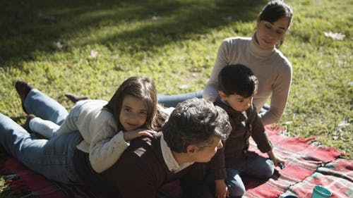 Family in a Picnic Day
