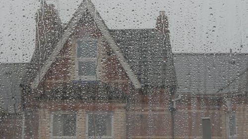 Rain Sliding Down the Glass Window