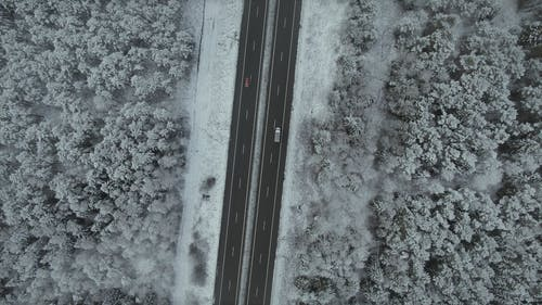 Drone Footage of a Road