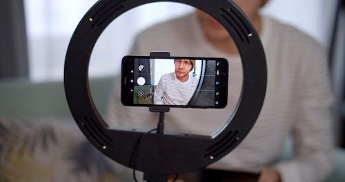 Man Recording Vlog
