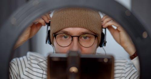 Man Recording his Video