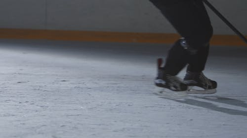 Cropped Video of Players During Ice Hockey