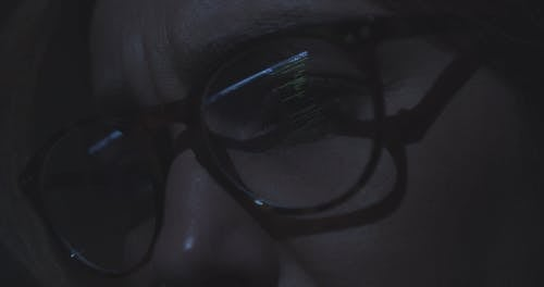 Extreme Close up Of Hacker