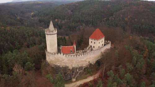 Drone Shot of the Old Castle