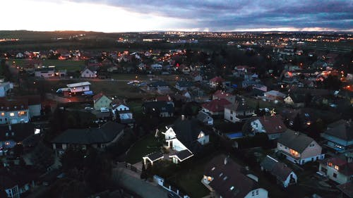 Aerial Footage of a Town
