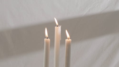 Close Up of Lighted Candles