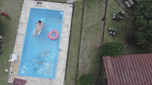 A Woman in the Swimming Pool
