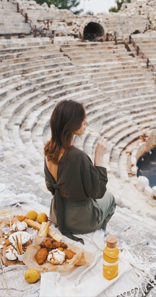 A Woman Having a Picnic