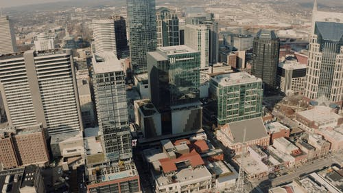 Aerial Video of City High rise Buildings