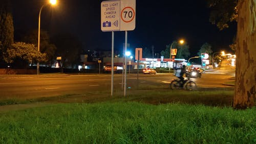 A Time lapse of a Busy Intersection at Night