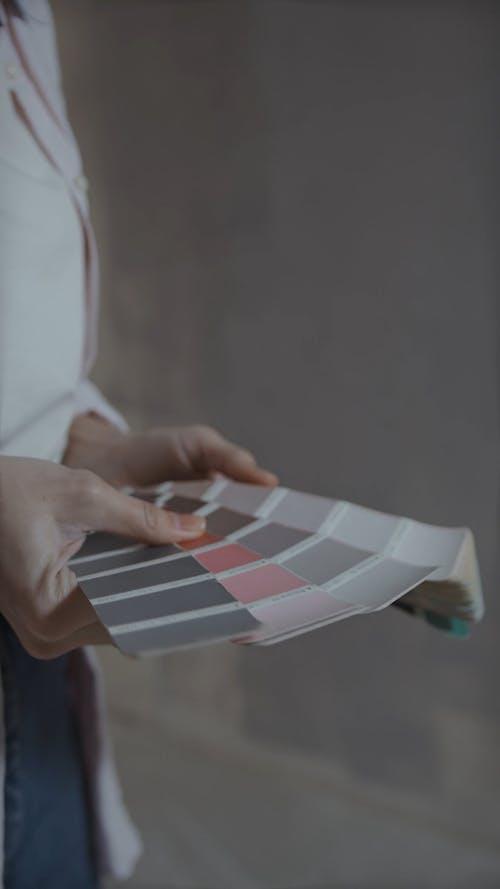 Man Choosing Colors