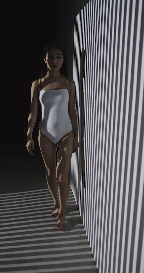 Woman Wearing One Piece Bikini