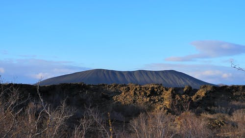 View of the Volcano Crater in Iceland