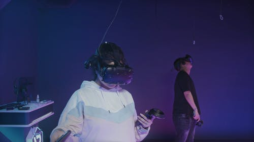 People using Virtual Reality Headset