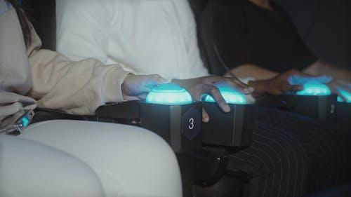 People Enjoying Virtual Reality Attraction