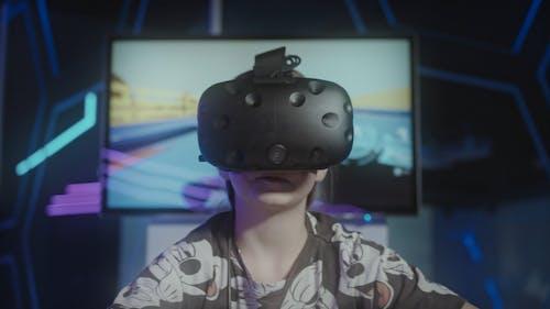 Child Playing Virtual Reality Game